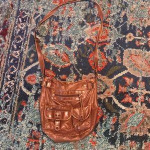 Handbags - Brown Faux Leather Crossbody Bag 💼 ✨💕